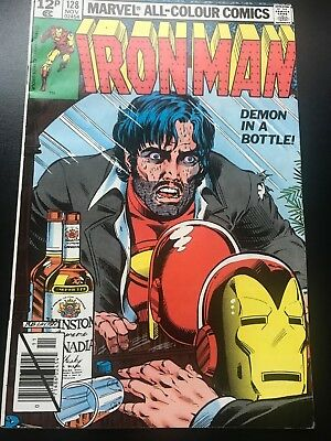 Iron Man #128  Demon in a Bottle  Key Issue   Rare