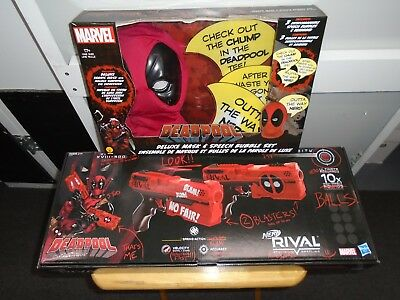 Nerf Deadpool Kronos Xviii-500 Dual Pack /deadpool Deluxe Mask/speech Bubble Set