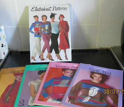 Electroknit Machine Knitting Pattern Books Set Of 4 For Brother Mylar Sheets