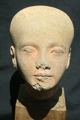 antique egyptian sandstone princess or queen for museum...amazing!!