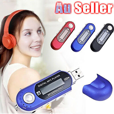 USB Digital MP3 Music Player LCD Screen Support TF Card + FM Radio Portable