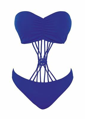 Freya Macrame AS4056 WP Underwired Padded Monokini Bikini Cobalt 36 DD CS
