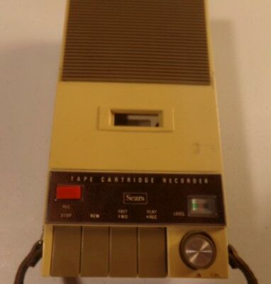 Vintage Sears Robuck & Co. Solid State Portable Cassette Tape Player Recorder
