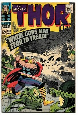 Thor #132 (Sep 1966, Marvel) VG/VG+ 1st Appearance of Ego the Living Planet