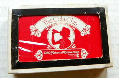 1980 The Cola Clan National Convention, Alexandria,va. Playing Cards ~ Unopened