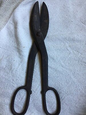 primative antique forged steel scissors original hand made #12