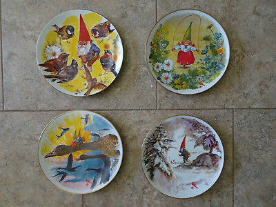 Gnome Collector Plate Set  - The Four Seasons 1981 by Rien Poortvliet