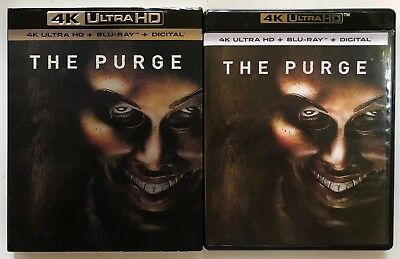 The Purge 4K Ultra Hd Blu Ray 2 Disc Set + Slipcover Sleeve Free World Shipping