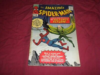 Amazing Spider-man #7 marvel 1963 silver age 3.0/gd/vg comic! 2ND VULTURE! WOW!!