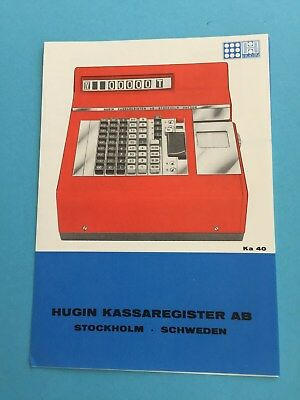 Kasse Registrierkasse Cash Register Werbung HUGIN KA40 Stockholm Sweden Schweden
