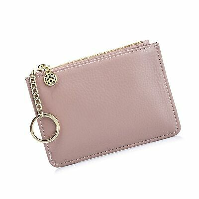ca667551615b ALADIN WOMENS LEATHER Key Case  Zipper Coin Purse  Card Holder ...