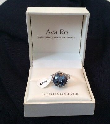 c3b25bdf9 AVA RO STERLING Silver Ring Swarovski Elements - Size 7 - UK N- BNWT ...