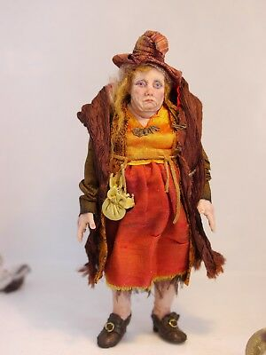 D/house Miniature Gorgeous Grumpy Witch 1/12th Scale ~ Sally Brennan