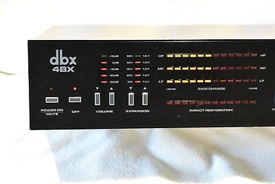 dbx 4BX Three Band Dynamic Range Expander - Refurbished - Very Nice Condition