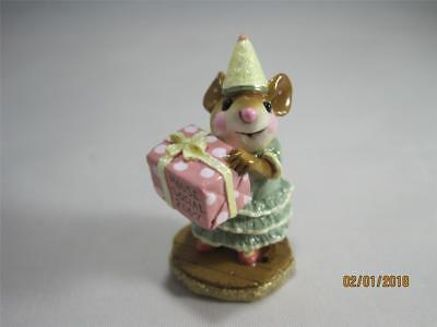 Wee Forest Folk Party Girl Ltd Edition Mouse Social - M-224 New in WFF Box