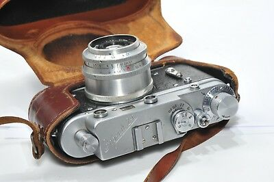 RARE !! Zorki 2C rangefinder camera based on Leica, with Industar 50, from 1958