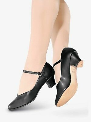 "SO DANCA CH50 Character Shoe, Leather Sole, 1.5"" Heel,RUNS SMALL, Black/Tan, NIB"