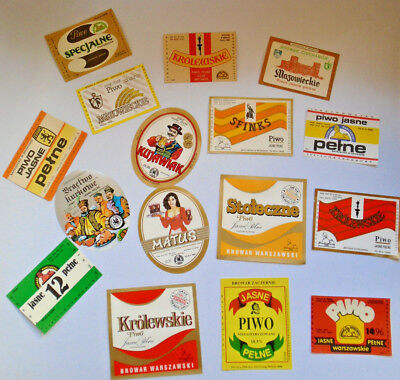 16 Different Polish Beer Lable's - Never Used - Fool Your Friends!      (22739)