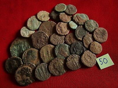 Ancient Roman coins - UNCLEANED COINS - Beautiful . Lot with 30 pieces .No.50