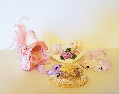 D/house Miniature Artisan Ladies Hats & Bonnet 1/12th
