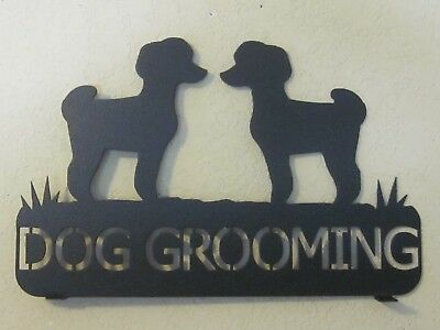Custom Twin Toy Poodle Mailbox Topper (Your  Name) Black Powder Coat Finish
