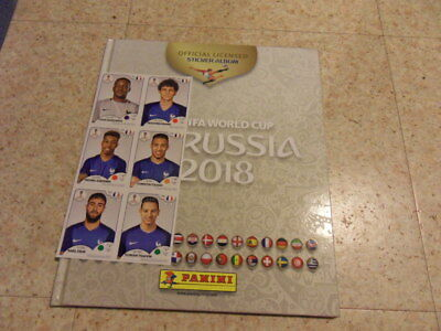 Album Panini  Russia 2018 Hardcover White + Extra Sticker France Team
