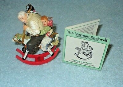 Norman Rockwell Christmas Ornament Collection Gramps at the Reins  Danbury Mint