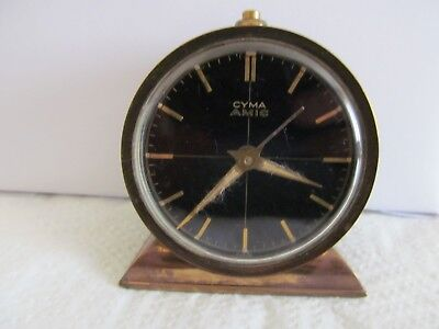 vintage Swiss made CYMA AMIC Alarm clock in good condition and working ??