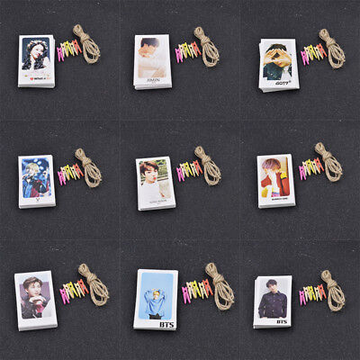 32pcs Kpop Photocards Bts Fans Gift Wall Room Decor Diy With Clips