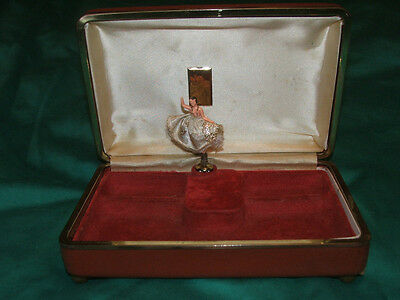 Old musical box Old jewellery box with turning doll REUGE In working condition