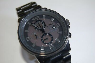 Citizen Eco Drive Nighthawk Wr200 Stainless Steel Watch Ca0295 58e