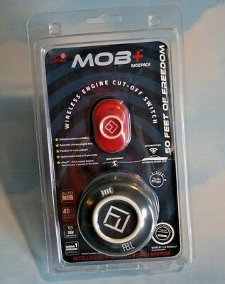FELL Marine MOB Wireless Kill Switch Basepack + Band- Black/Red  NEW opened
