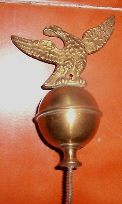 Antique Longcase / Grandfather  Clock  Ball Brass Eagle Finial