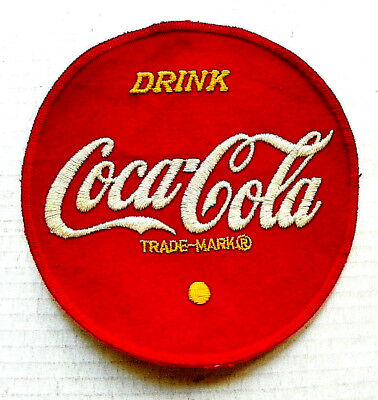 "1950's ""DRINK COCA-COLA"" DRIVER ROUND PATCH ~ 7"" Dia."