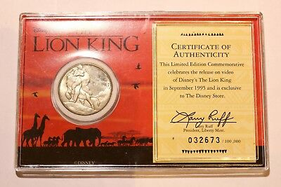 Disney's The Lion King - Limited Edition Commemorative Coin - RARE