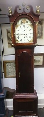Edinburgh 8 Day Longcase Clock Jas Wilson G.w.o.