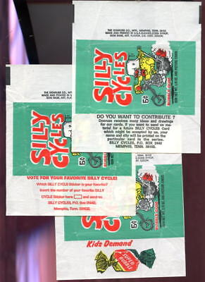 3 1972 Donruss Silly Cycles Card Wax Pack Wrapper Complete Set Odd Rods Rod