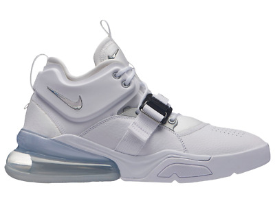 776eb2704aa NIKE AIR FORCE 270 White Metallic Silver AH6772-100 Mens sz 8-13 ...