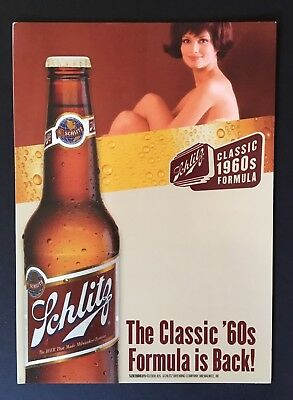 Schlitz Beer Signs Window Clings Decals Stickers NOS Man Cave Party Bar