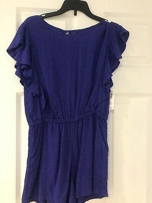 Old Navy Girls Size 10-12 Purple One Piece Romper Brand New W Tags