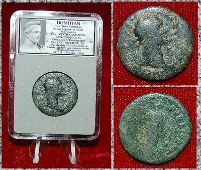Ancient Roman Empire Coin Of DOMITIAN FIDES Holding Plate Of Fruits On reverse