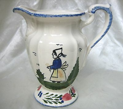 BLUE RIDGE Southern Potteries FRENCH PEASANT pattern MILADY PITCHER ~ Excellent!