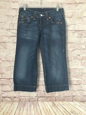 9852ed829 WOMEN S TRUE RELIGION Jeans Size 27 Cropped Capri -  5.00