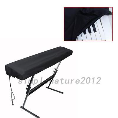 Black Dust-proof On Stage Keyboard Dust Cover 61 or 88 Key Keyboards