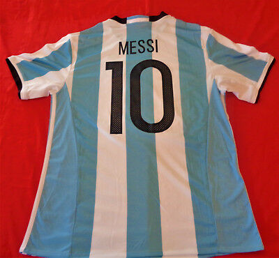 d47062027 ... inexpensive lionel messi 10 argentina afa mens large adidas climacool  soccer jersey 0581a 9ed8b