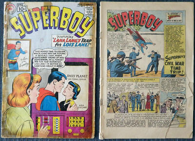 Superboy #90 #91 Poor condition reading copies