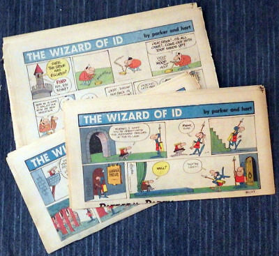 Wizard of Id 49 Sunday comic strips 1973 - Parker & Hart