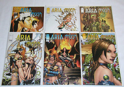 Aria Angela #1-2 Complete Set + 4 Variant #1 Covers - Image Comics (Lot of 6)