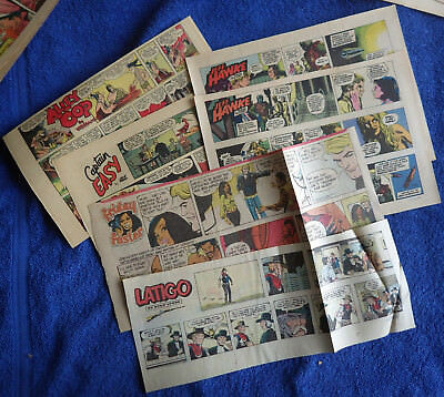Misc Comic Strips 50s etc - Lance Red Ryder Alley Oop Jeff Hawke Nero Wolfe more