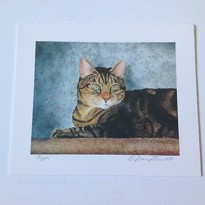 Drew Strouble cat print, TIGGER, Catmandrew, 7 x 6